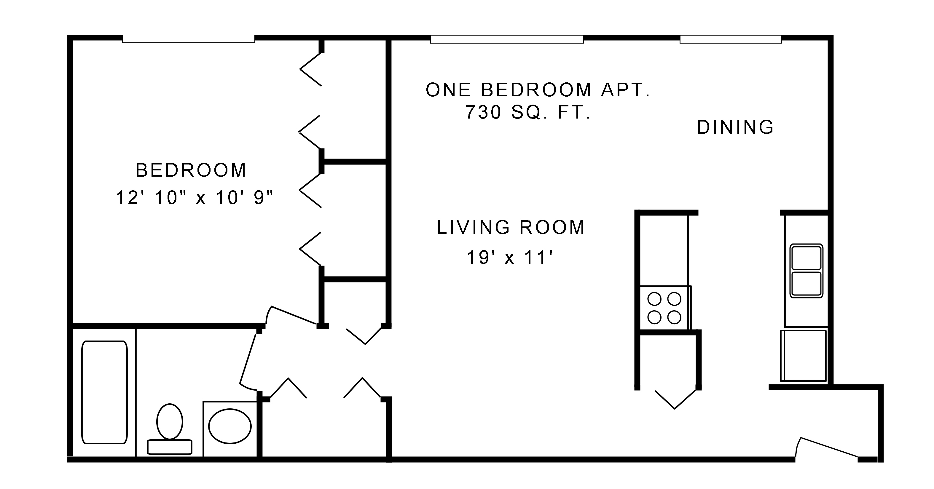 original one bdrm floor plan