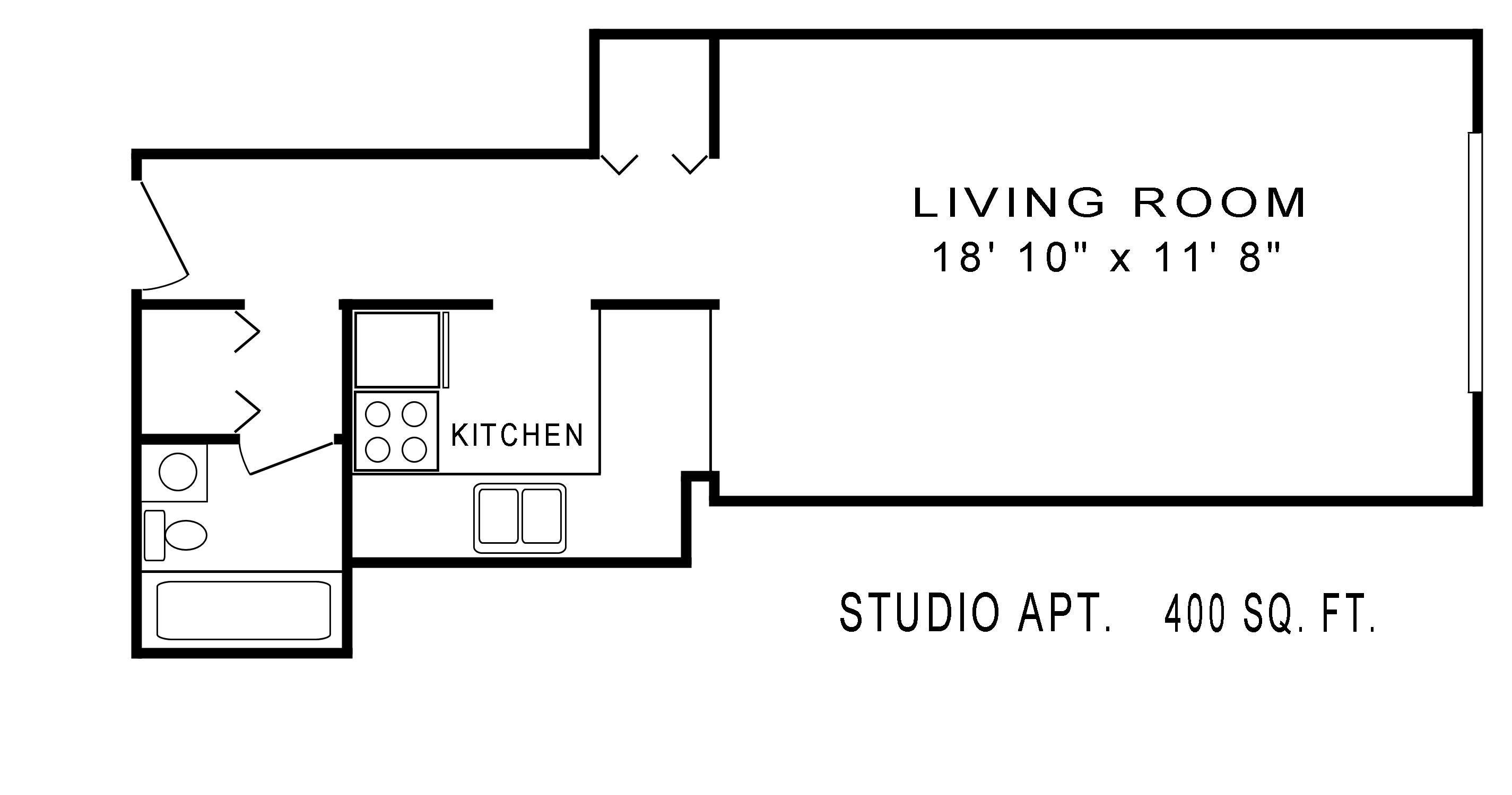 studio floor plan original